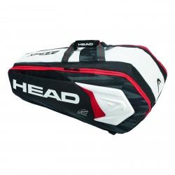 Head Djokovic 9R MonsterCombi Racket Bag Black / White