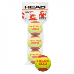 HEAD T.I.P. RED Tennis Balls (3 Balls Pack)