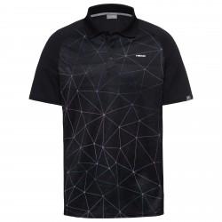 Head Performance Polo-Triangle Print - Black