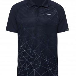 Head Performance Polo-Triangle Print - Blue
