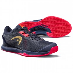 Head Women's Sprint Pro 3.0 CLAY Tennis Shoes - Dress Blue / Neon Pink (Only UK-6)