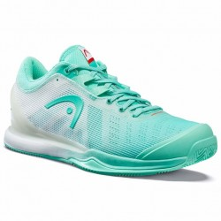 Head Women's Sprint Pro 3.0 Tennis Shoes - Teal / White (Only UK-6)