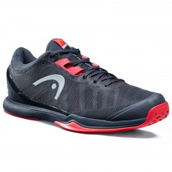 Head Sprint Pro 3.0 CLAY Tennis Shoe - Midnight Navy / Neon Red (only UK-8.5)