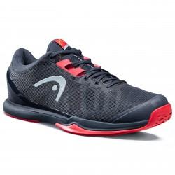 Head Sprint Pro 3.0 Tennis Shoe - Midnight Navy / Neon Red