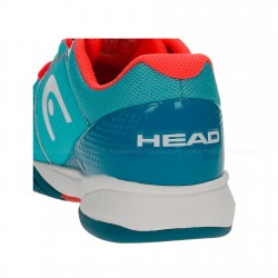 HEAD Brazer Women's Tennis Shoes - Blue / Coral (only UK-6)