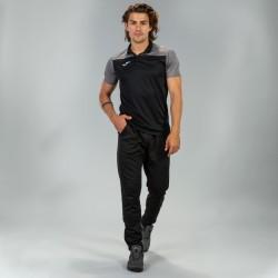 Joma Hobby II Polo-Black & Grey