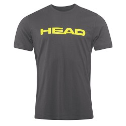 Head Ivan T-Shirt M - Anthracite & Yellow