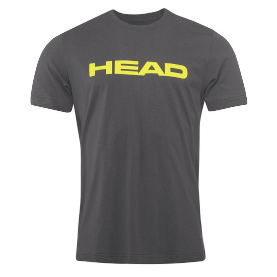 Head Ivan T-Shirt M - Anthracite & Yellow