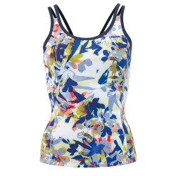 Head Vision Graphic Strap Tank W - Royal & Yellow
