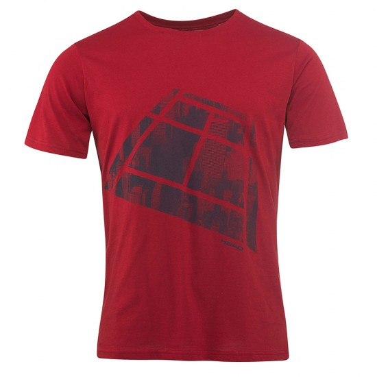 Head Addison T-Shirt M - Burgundy