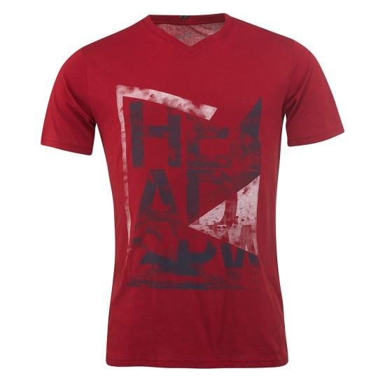 Head Alcott V-Shirt M - Burgundy