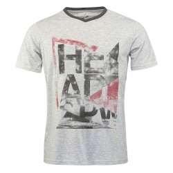 Head Alcott V-Shirt M - Grey Melange