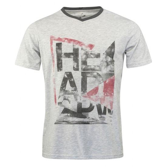 Head Alcott V-Shirt M - Grey Melange