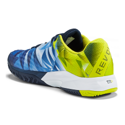Head Revolt Pro 3.0 Clay Tennis Shoes-Dark Blue & Yellow (only UK-8.5)