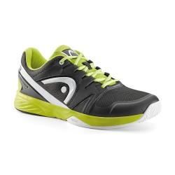 Head Nzzzo Team Raven & Lime Tennis Shoes
