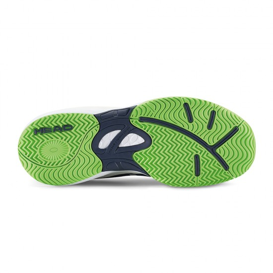 Head Nitro Navy & Neon Green Tennis Shoes-Junior