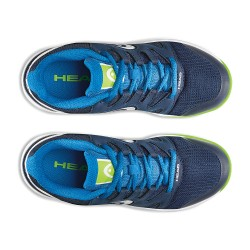 Head Nzzzo Navy & Neon Green Tennis Shoes-Junior (Only UK-1)