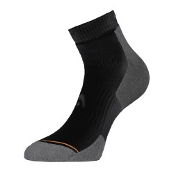 Head Tennis Quarter Socks-1 Pack (Black&Grey)