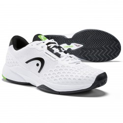Head Revolt Pro 3.0 Tennis Shoes All Court. White/Black