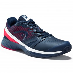 Head Sprint Pro 2.5 Clay Men Tennis Shoes.  Navy/Fluo Red