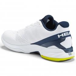 Head Sprint Pro 2.5 Clay Men Tennis Shoes.  White/Navy