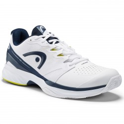Head Sprint Pro 2.5 Clay Men Tennis Shoes.  White/Navy