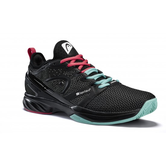 Head Sprint SF Tennis Shoes-Black & Teal