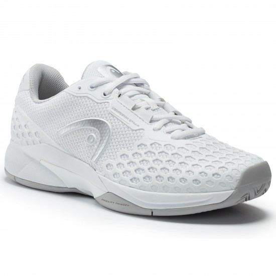 Head Women's Revolt Pro 3.0 Tennis Shoes. White and Gray