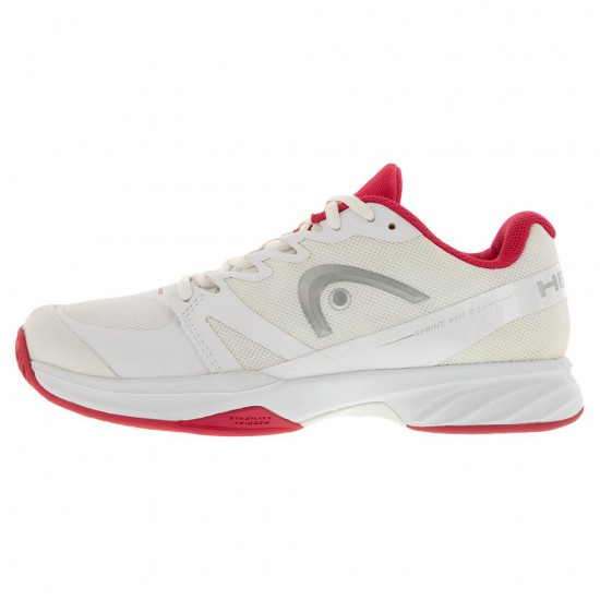 Head Women's Sprint Pro 2.5 Tennis Shoes White and Pink