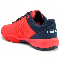 HEAD JUNIOR REVOLT PRO 2.5 ALL COURT FLUO RED/NAVY (Only UK-1)