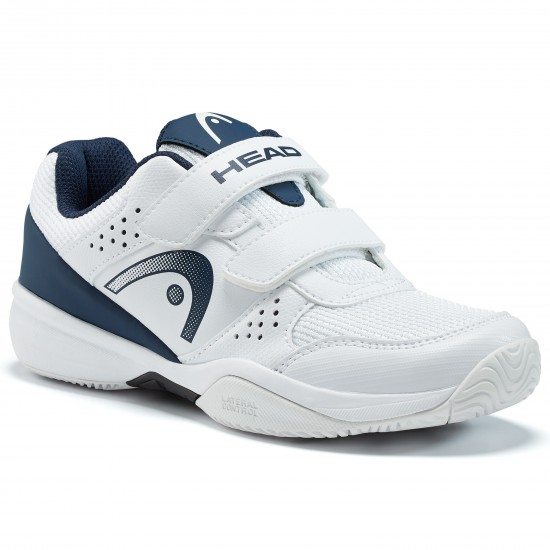 Head Kids Sprint Velcro 2.5 Tennis Shoes - White/Dark Blue