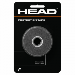 HEAD PROTECTION TAPE FOR RACKET -  BLACK