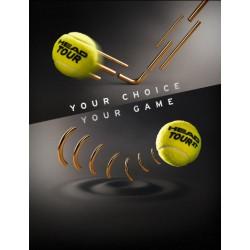 Head TOUR Tennis Balls (3 Balls Pack)