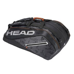 Head Tour Team 12R MonsterCombi Racket Bag-Black & Silver