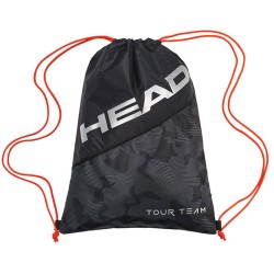 Head Tour Team Drawstring Bag-Black & Silver