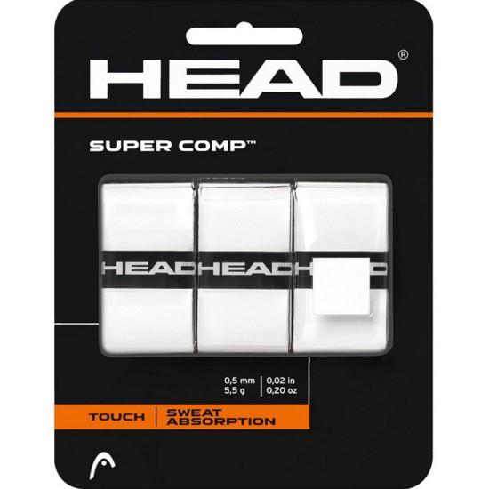 HEAD Super Comp Overgrip - White (3 Pack)