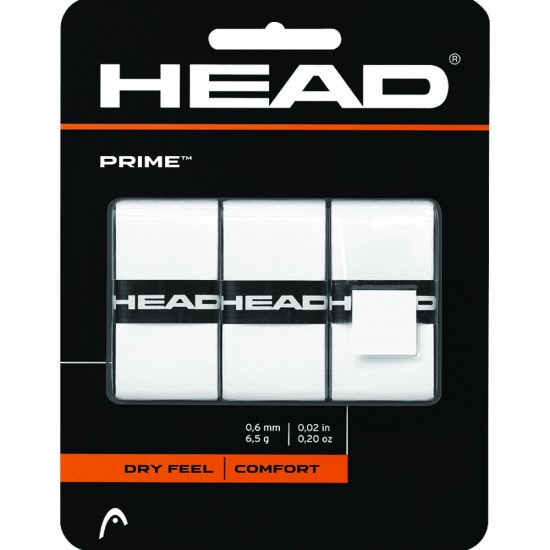 Head Prime OverGrip -White (3 Pack)