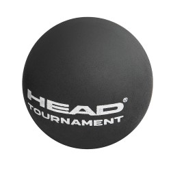 Head Tournament Squash Ball Single Dot-Yellow (3 Ball Tube)