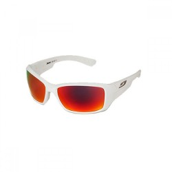 Julbo Whoops Blanc Brill Spectron 3 Lens Sunglasses (Shiny White + Flash Red)