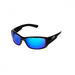 Julbo Whoops Noir Spectron 3 Lens Sunglasses (Shiny Black + Flash Blue)