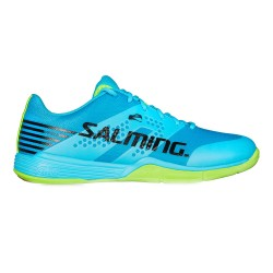Salming Viper 5 Indoor Court Shoes-Blue Atol/New Fluo Green