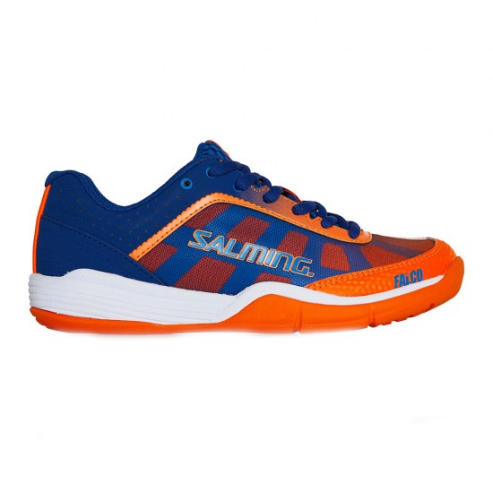 Salming Falco Indoor Court Shoes-Limoges Blue/Orange Flame